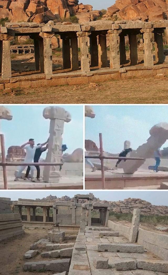 #16 Navodno su turisti uništili kamene stupove u Hampiju