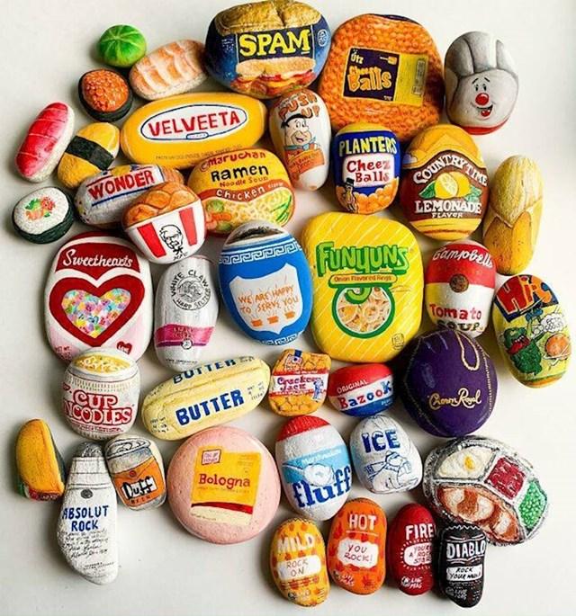 1. Netko male kamenčiće oslikava i pretvara u umjetne prehrambene proizvode