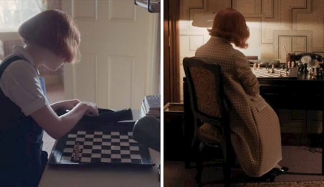 #9 Beth i u zadnjoj epizodi koristi prvi šahovski set koji je ikada kupila.
