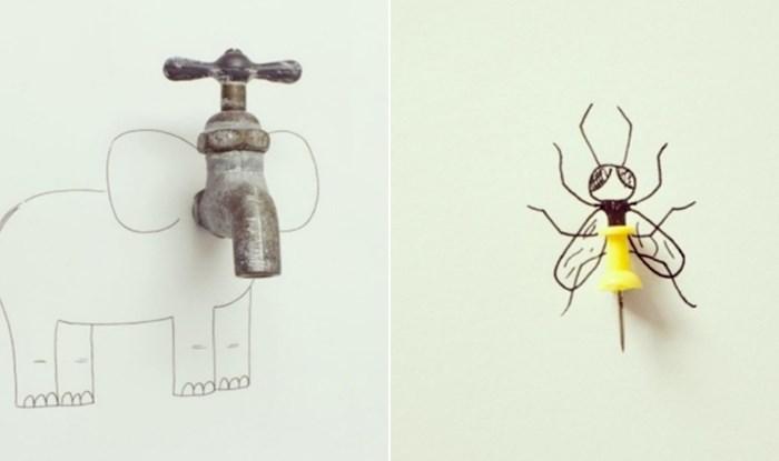 Umjetnik svakodnevne predmete pretvara u duhovite ilustracije, ovo je baš fora