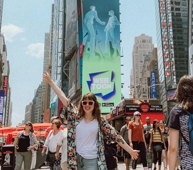 """""""Moj strip završio je na Webtoonu čija se reklama vrti na Times Squareu."""""""