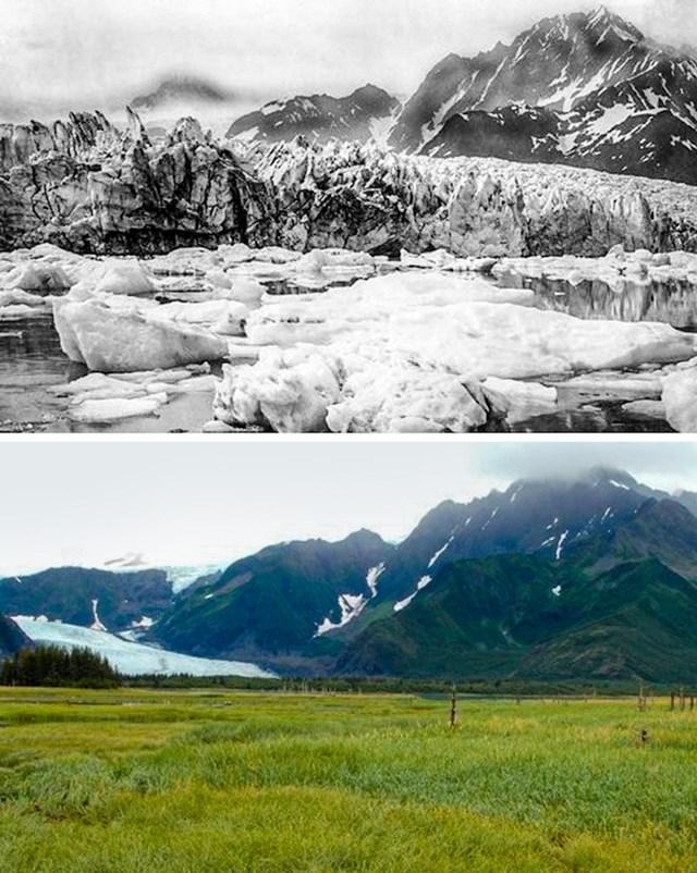 1. Glečer Pedersen, Aljaska, 1917. i 2005.