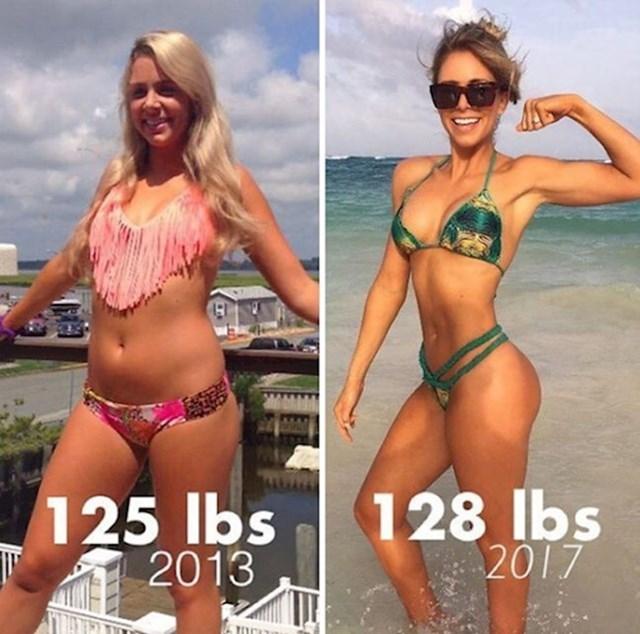 Lijevo ima 56 kilograma, a desno 58.