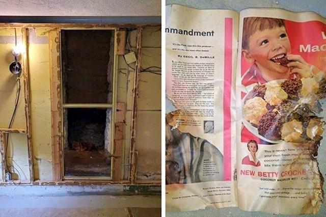 13. Pronašla sam tajnu prostoriju punu starih novina iz 50-ih.