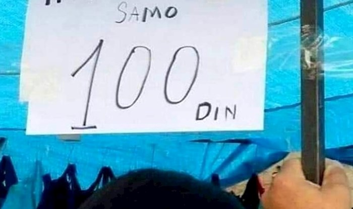 Ovaj natpis s jedne tržnice ostavio je brojne kupce u nevjerici