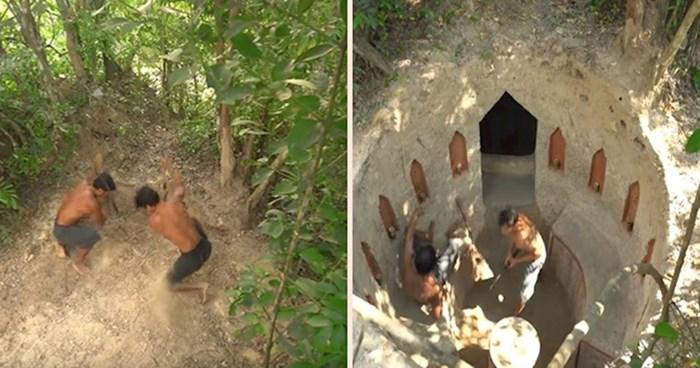 VIDEO Dvojica mladića sami izgradili genijalnu podzemnu kuću s bazenom
