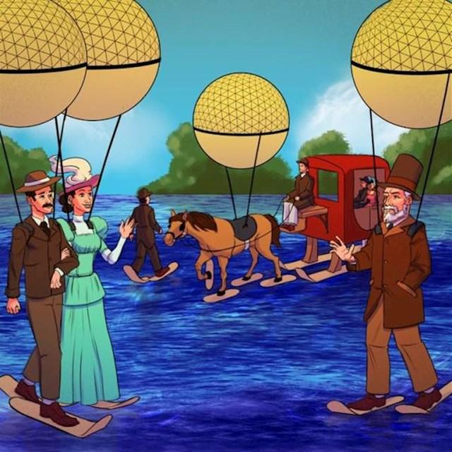 9. Ljudi su bili uvjereni da će jednog dana hodati po vodi