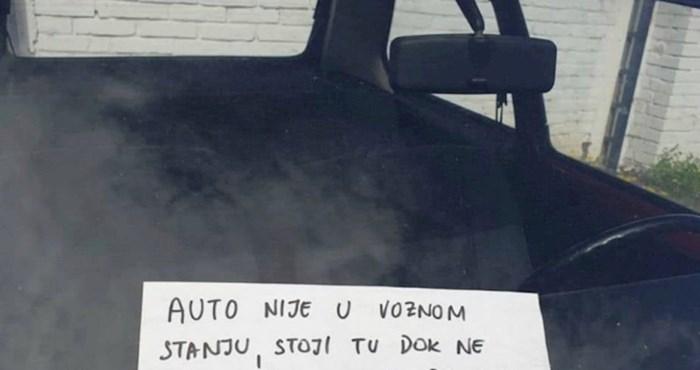 Tip je nevjerojatnom porukom objasnio zašto je njegov auto tako dugo parkiran na istom mjestu