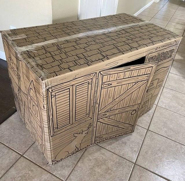15. Kutija u kojoj vam je stigao komad namještaja ili neki veći predmet može se prenamijeniti u dvorac za klince!