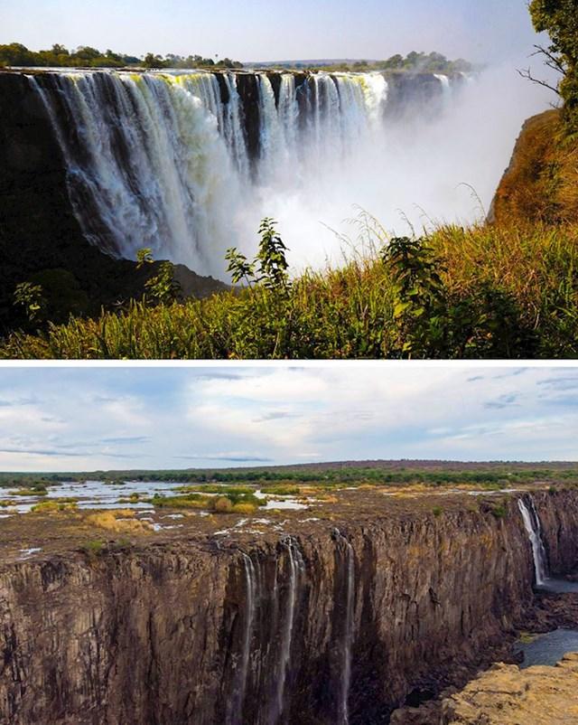 2. Nekada impresivni Viktorijini slapovi koji su se u nekoliko godina dramatično isušili.
