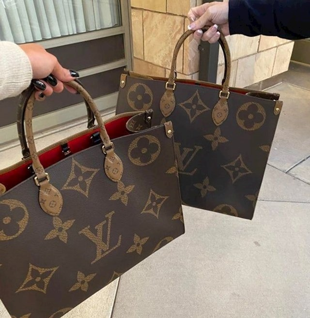 """2. """"Svekrva nam je kupila iste torbice."""""""
