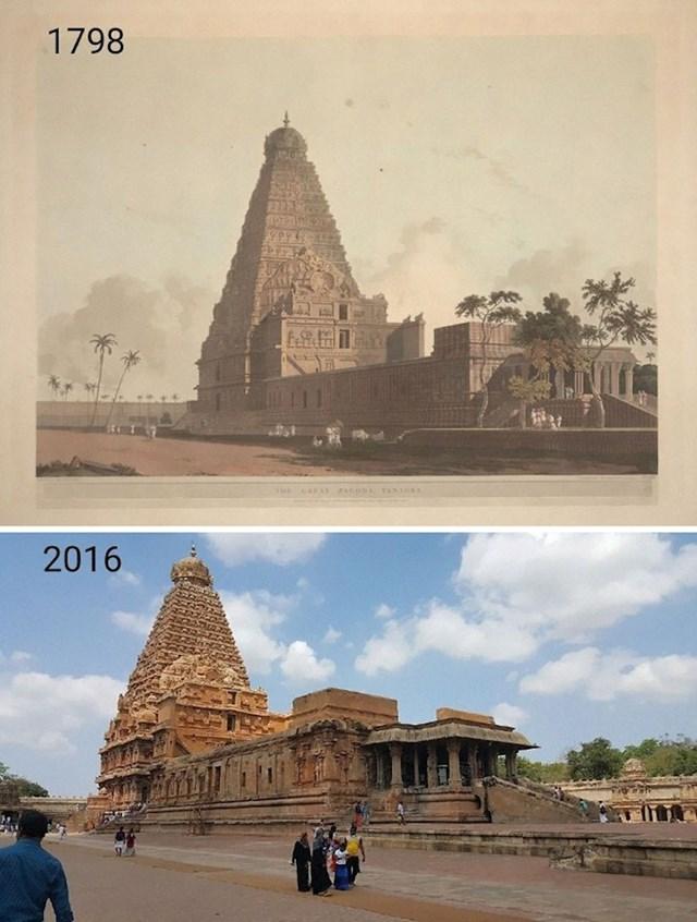 7. Hinduistički hram Brihadishwara u Indiji kroz vrijeme