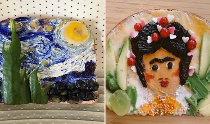 Ljudi su u karanteni pronašli čudan hobi - rekreiranje poznatih slika pomoću hrane