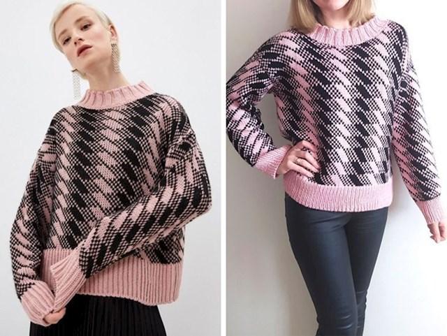 19. Vidjela sam ovaj džemper u ponudi jednog high street brenda, koštao je 200 dolara. Pa sam ga odlučila napraviti sama!