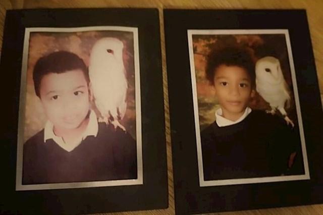 """""""Moj brat i ja s istom sovom, uz 10 godina razlike."""""""