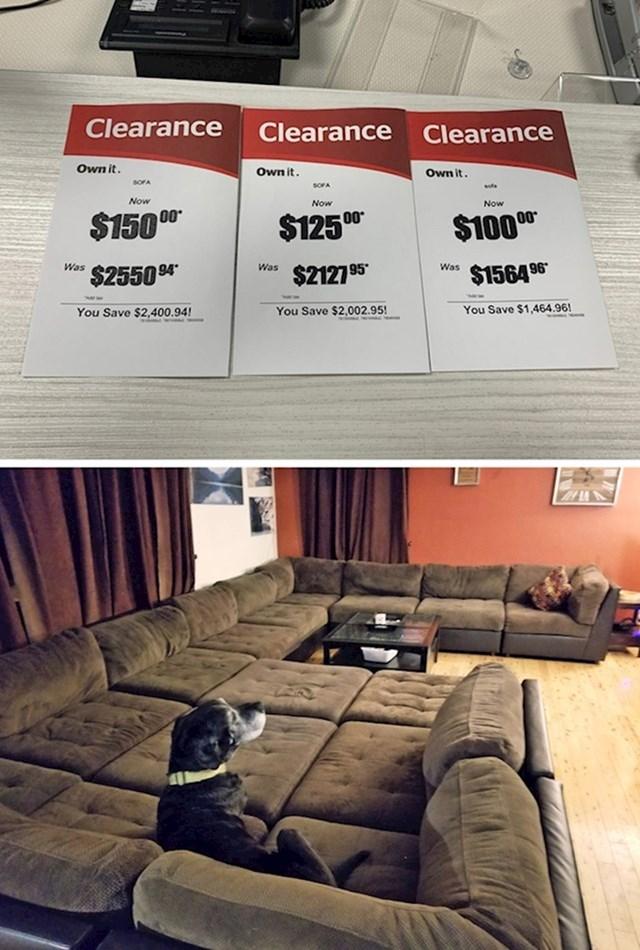 """8. """"Moja žena odlučila je nabaviti novi kauč."""""""