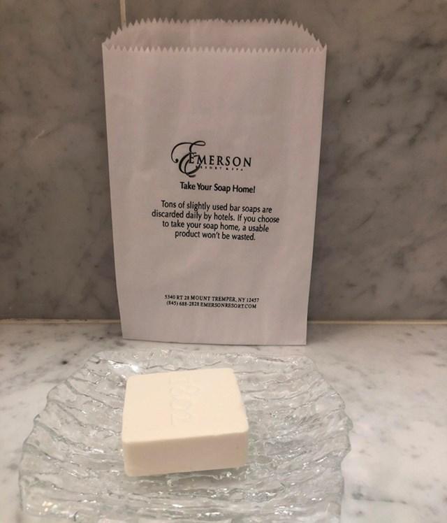 Ovaj hotel želi da uzmete sapun kući!