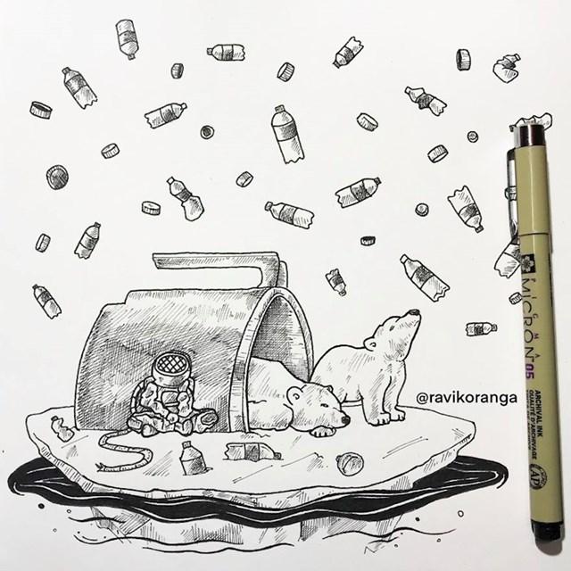 Čak su i ledenjaci zagađeni mikroplastikom. Zaista, nijedno mjesto na Zemlji nije izbjeglo zagađenje.