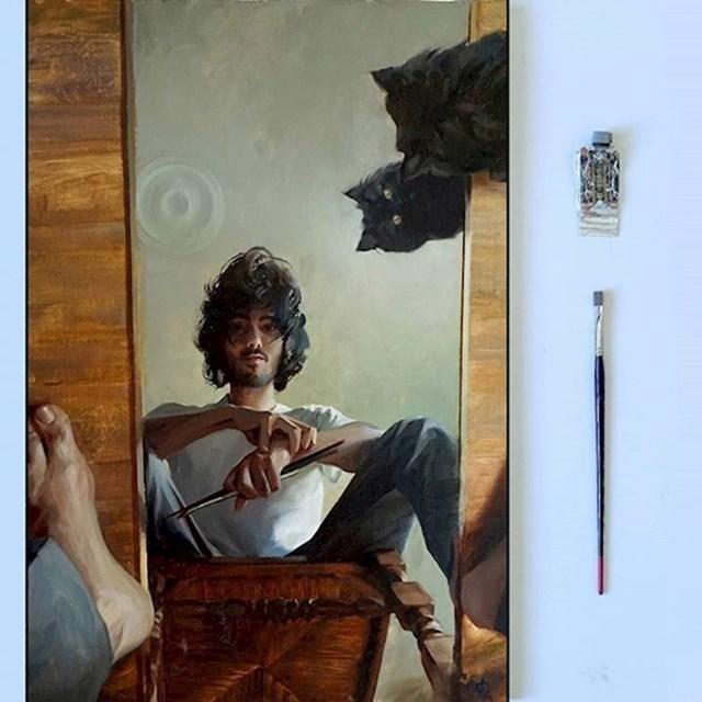 Ovaj lik ne treba kameru. Njegovi selfiji u obliku umjetničke slike su puno bolji.