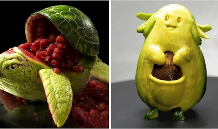 18 nevjerojatnih skluptura od voća, povrća, zrna kave i tartufa