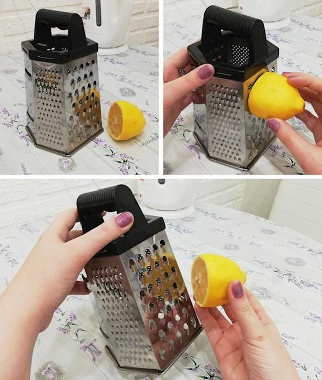 5. Očistite ribač s polovicom limuna.
