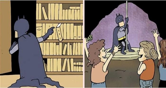 Umjetnik pokazuje što superheroji rade u slobodno vrijeme, a da ni riječi nisu progovorili