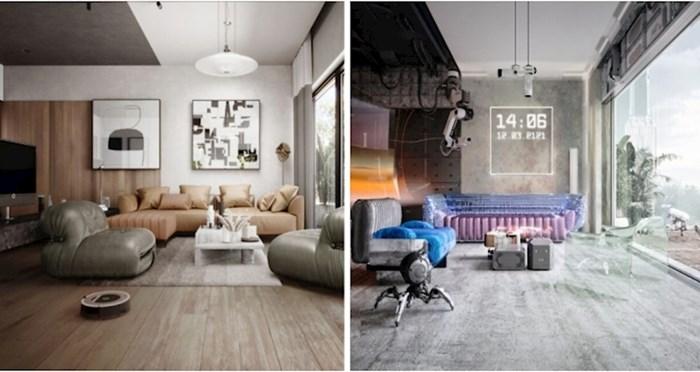 Ovi umjetnici pokazuju kako se dizajn interijera mijenjao i kako bi mogao izgledati u budućnosti