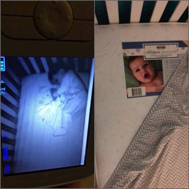 Ova mama koja je bila uvjerena da njenu kćer proganja beba duh, a zapravo je njen suprug zaboravio odlijepiti fotku s madraca.