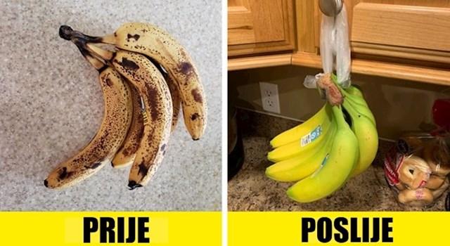 #4 Objesite svoje banane kako biste usporili njihovo sazrijevanje.