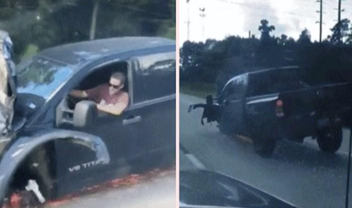 Vozač je na cesti snimio uznemirujući prizor, pogledajte što je netko vozio