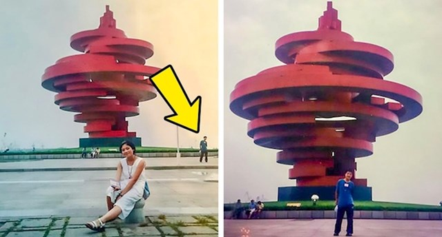 9. Ovaj par otkrio je da se pojavljuju na istoj fotografiji.