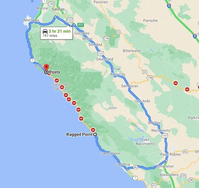 6. Vožnja od 70 kilometara za ovog vozača pretvorila se u 300 kilometara nakon što je dio autoceste pao u ocean.