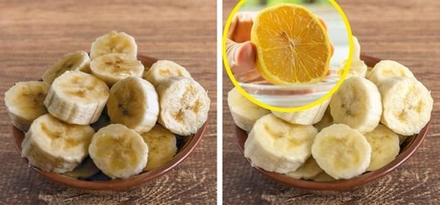 #3 Prelijevanje limunovog soka preko izrezanih banana spriječit će ih da postanu smeđe nekoliko sati.