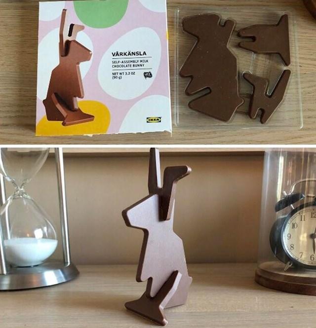 Čokoladni zec iz IKEA-e.