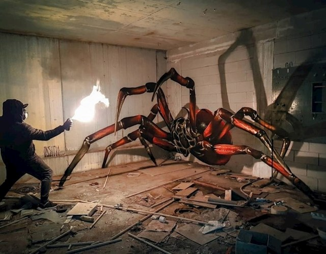 Radi se o velikom realističnom grafitu.