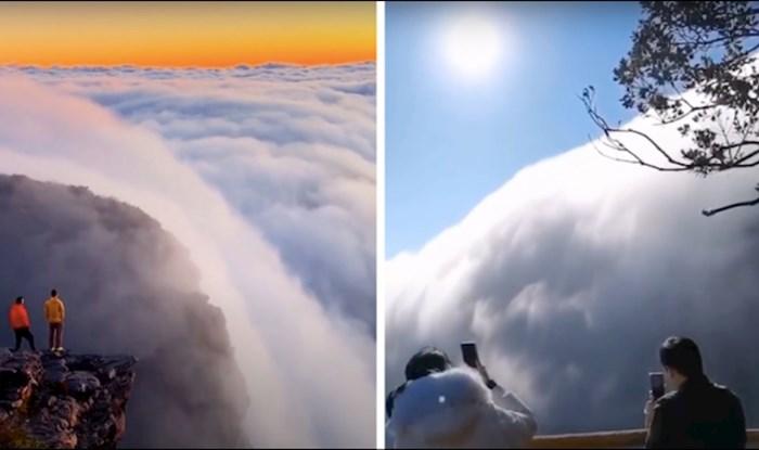 VIDEO Fascinantan fenomen - oblaci koji se slijevaju poput vodopada
