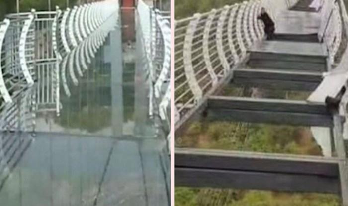 Šetnja preko staklenog mosta visokog 100 metara pretvorila se u najgoru noćnu moru jednog turista