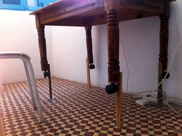 """""""Zamolili smo stanodavca veći stol. Izgradio nam je ovo!"""""""