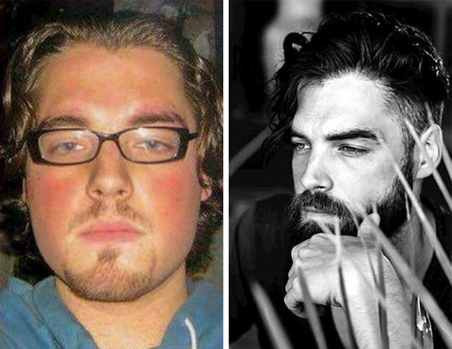 """#2 """"Razlika je 12 mjeseci. Izgubio sam težinu, narasla mi je brada i postao sam model u 30-ima! """""""