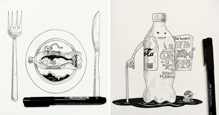 Ovaj umjetnik ilustrira štetu nastalu zagađenjem od plastike kako bi podigao svijest