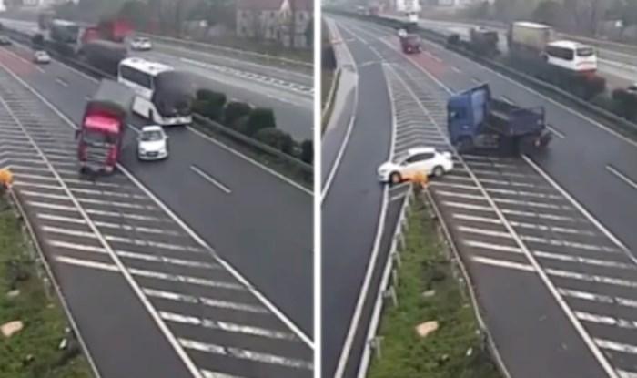 Ovaj vozač ponaša se kao da je sam na cesti, pogledajte kaos koji je napravio