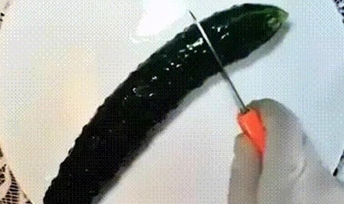 Izrezala je krastavac na tanjuru pa napravila nešto što će i vas oduševiti