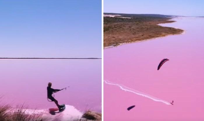 VIDEO Pogledajte vožnju zmajem po nevjerojatno životopisnom jezeru