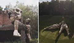 Ovaj umjetnik stvara divovske drvene trolove koje skriva u šumi