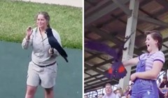 Bila je presretna kad je odabrana da ptica sleti kod nje, a onda je uslijedilo još jedno iznenađenje