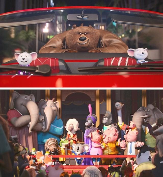 #14 U filmun Sing (2016.) Miša Mikea na kraju pojede medvjed koji ga je progonio tijekom cijelog filma.