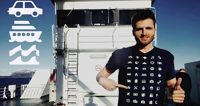 Majica s 40 ikona omogućit će vam da lako komunicirate gdje god da putujete