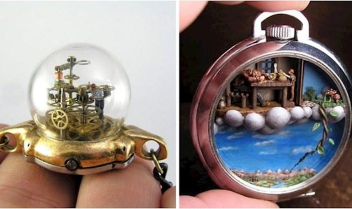 Ovaj umjetnik pretvara ručne i džepne satove u minijaturne svjetove, rezultat je fascinantan