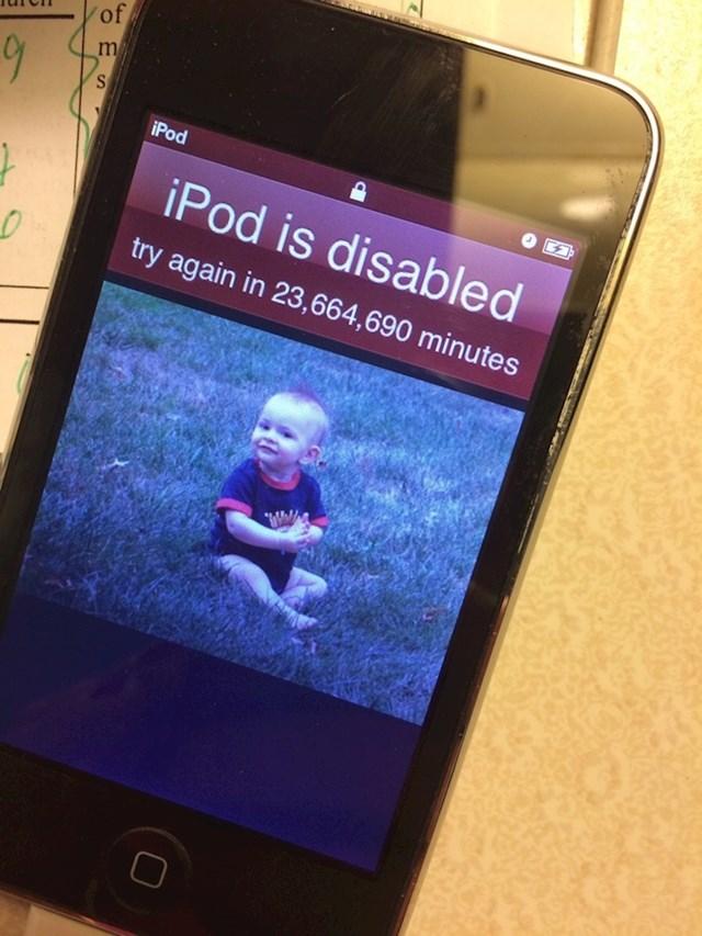 """""""Moja djeca zaključala su iPod na 45 godina."""""""