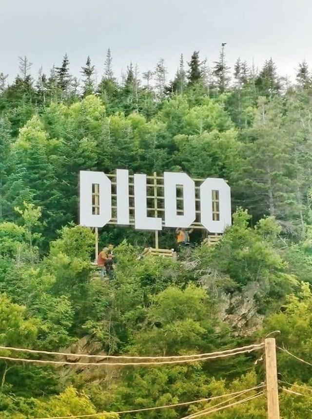 """""""Grad Dildo u Newfoundlandu u Kanadi upravo je postavio novi znak."""""""